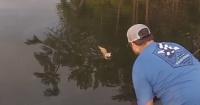 Este tipo estaba tranquilamente pescando y en vez de sacar peces del agua, sacó gatos