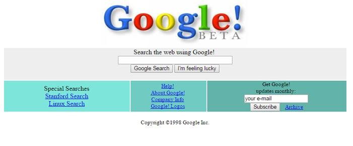 Resultado de imagen de google en los 90