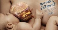 Esta polémica campaña te hará pensar dos veces antes de comer comida chatarra durante el embarazo
