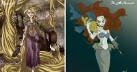 Estas Princesas Disney transformadas en siniestros personajes seguro te dan pesadillas
