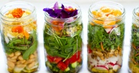Come sano y domina el mundo de las hermosas ensaladas en frasco