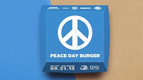 hamburguesa por la paz
