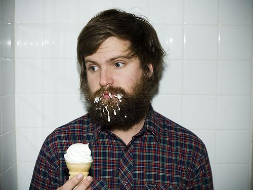 ice-cream-in-beard-