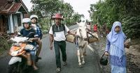 Este hombre y su caballo están motivando a los niños de Indonesia a leer