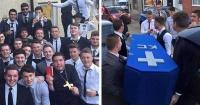 Hicieron un funeral para burlarse de su amigo de la forma más épica
