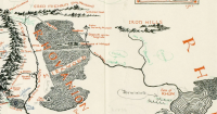 Encuentran mapa de la Tierra Media con anotaciones de J.R.R. Tolkien