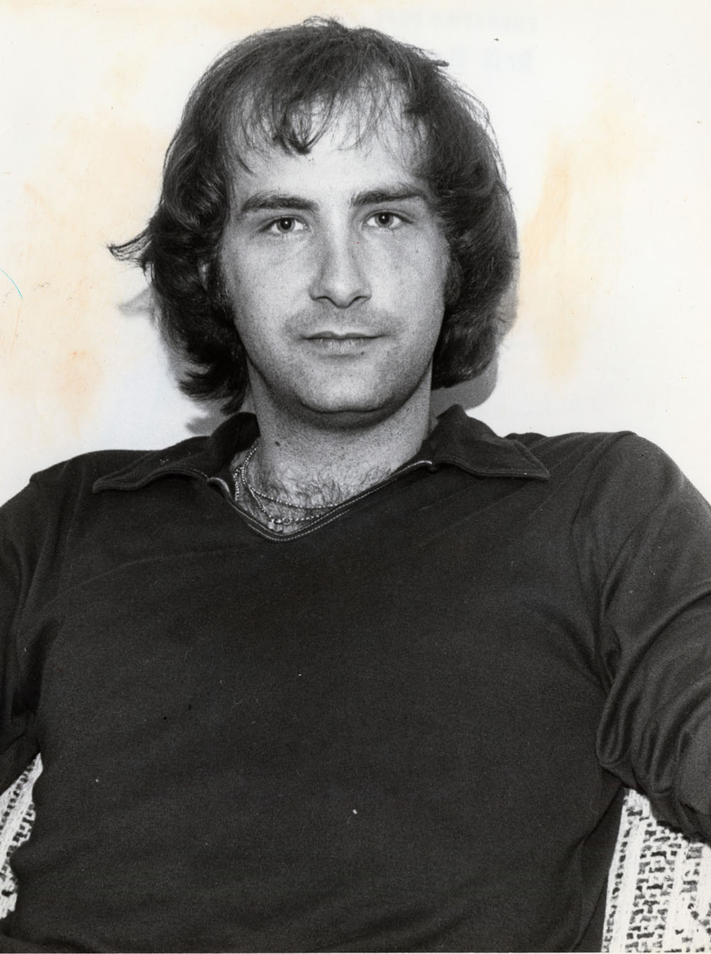 Multi-personality figure BILLY MILLIGAN -- Black & white file mug shot -- William (Billy) Milligan once diagnosed as having 10 personalities. Photo taken by Glen Cumberledge c. 1979.
