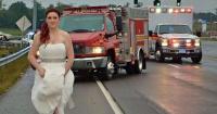 Esta novia fugitiva se salió de su boda por el mejor motivo posible