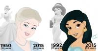 Belleza sin edad: Así lucirían las princesas Disney si hubieran envejecido