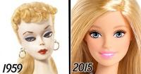 La impactante evolución de la muñeca Barbie en 56 años