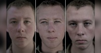 Así cambia el rostro de los soldados antes, durante y después de la guerra