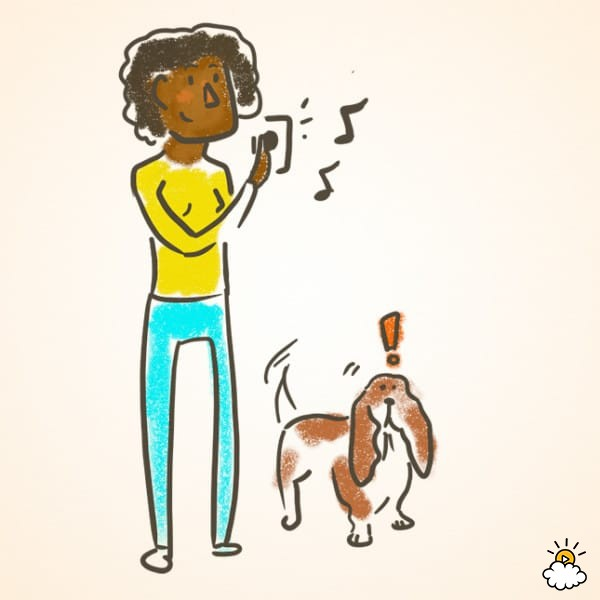 """Presta atención a elementos que hagan que tu perro ladre, como una campana o aplausos. Haz que tu perro """"hable"""" cuando haces sonar la campana. Cuando ladre, dale un premio. Repite esto muchas veces."""