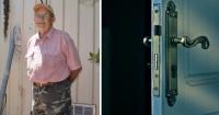 """Mira el """"monstruo"""" que se encontró este hombre cuando abrió la puerta de su casa"""