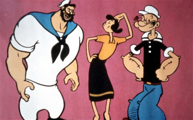 Bluto Olive Oyl and Popeye...A15BWT Bluto Olive Oyl and Popeye