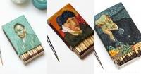 Este artista recrea las obras de Van Gogh en cajas de cerillas y el resultado es increíble