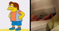 El bebé que se ríe igual a Nelson de Los Simpsons