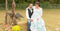 Ella misma tejió su hermoso vestido de novia y sólo gastó 70 dólares