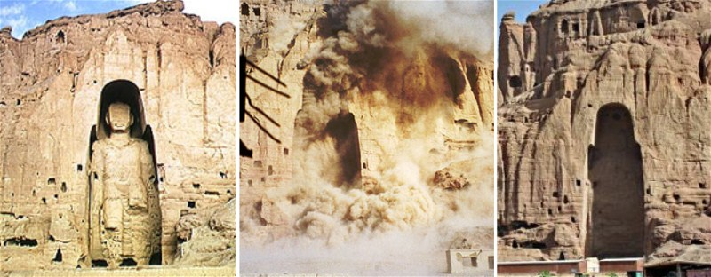Going-going-gone-the-Taliban-blow-up-the-largest-of-the-Bamiyan-Buddha-statues-in-2001