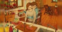 Estas ilustraciones muestran que el amor se hace más fuerte con pequeños detalles