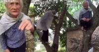 VIDEO: Esta anciana tiene 97 años y trepa árboles como si fuera un verdadero mono