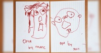 Artista expone sus dibujos desde los 2 a los 28 años y demuestra que la práctica hace al maestro