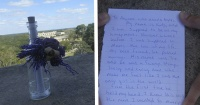 Encontró esta botella con un mensaje en la cima de una ruina maya y lo que había dentro es conmovedor