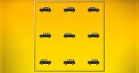 Intenta estacionar los 9 taxis en su mismo lugar sólo usando 2 cuadrados ¿Puedes?