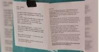 "La brutal respuesta de una chica a la carta anónima que un ""buen tipo"" pegó en la pared"
