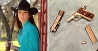 Esta extremista defensora de las armas recibió un disparo de quien menos esperaba