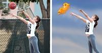 Suben foto de Jennifer Lawrence jugando básquetbol y los bromistas no paran de burlarse