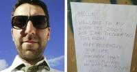 Mientras remodelaba su casa encontró una siniestra nota de hace 15 años y esto le sucedió
