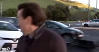 Este periodista vivió segundos de terror cuando realizaba un despacho en vivo