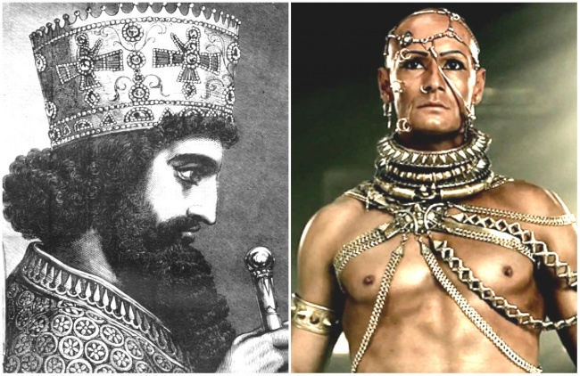 Comparación Rey Jerjes I y Rodrigo Santoro