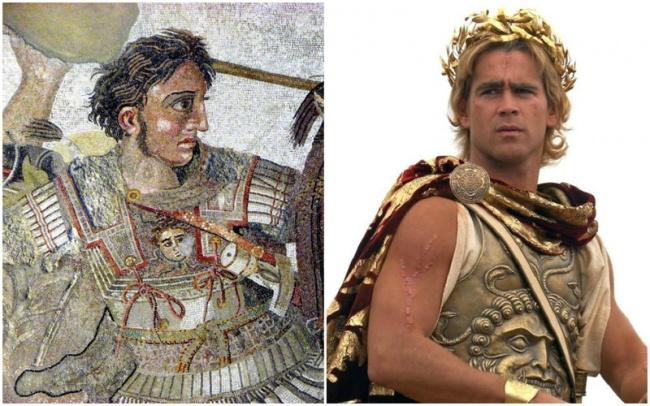 Comparación Alejandro Magno y Colin Farrell