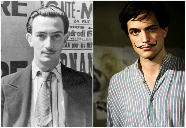 Comparación Salvador Dalí y Robert Pattinson