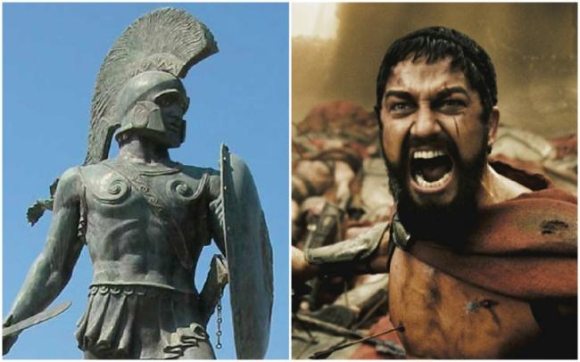 Comparación Leonidas y Gerard Butler