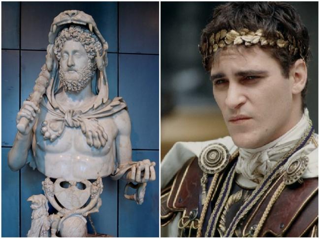 Comparación Emperador Cómodo y Joaquin Phoenix