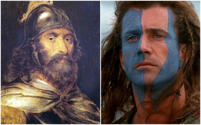 Comparación William Wallace y Mel Gibson