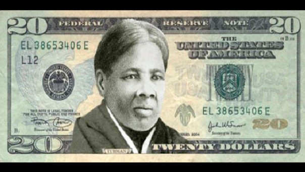 Harriet Tubman en el billete de 20 dólares.