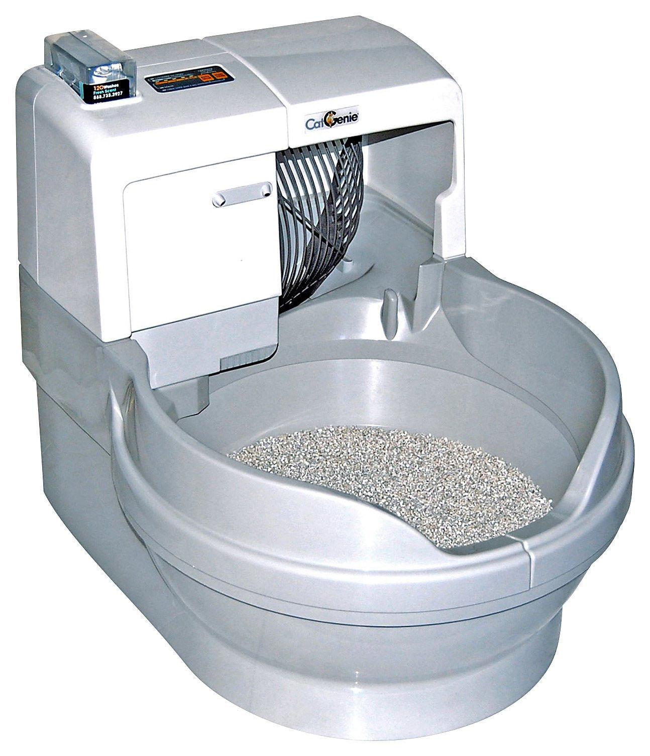 Caja de arena con forma de taza de baño