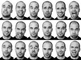 Imagen de un rostro demostrando diferentes emociones