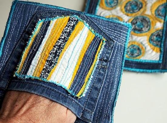 Posavasos que sirven como guantes de horno