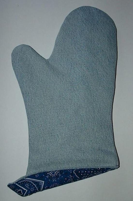 Guante de cocina hecho de jeans