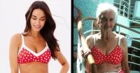 Posó en bikini a sus 90 años y la empresa que lo fabricó le respondió así