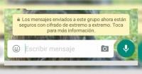 """¿Te apareció el mensaje """"están cifrados de extremo a extemo"""" en WhatsApp? Esto significa"""