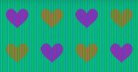 ¿Ves estos corazones color naranja o violeta? Tus ojos te están engañando y esta es la razón