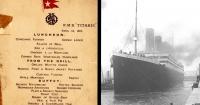 Esto era lo que comían los pasajeros del Titanic antes de su hundimiento