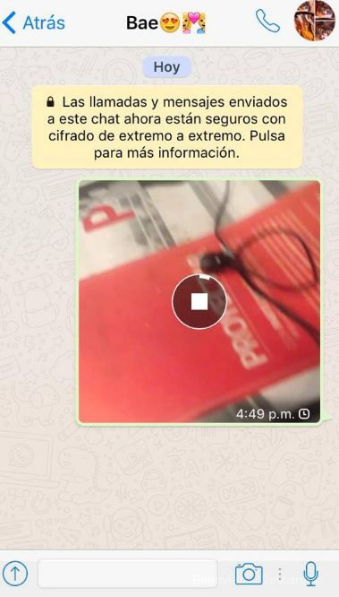 Enviando video por WhatsApp