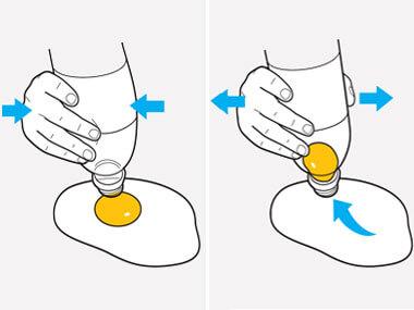Botellas y yemas de huevo