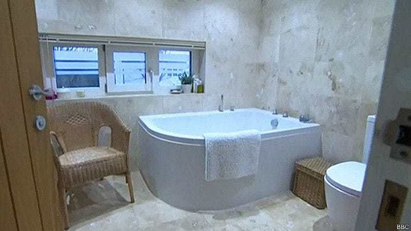 Baño de la casa eficiente
